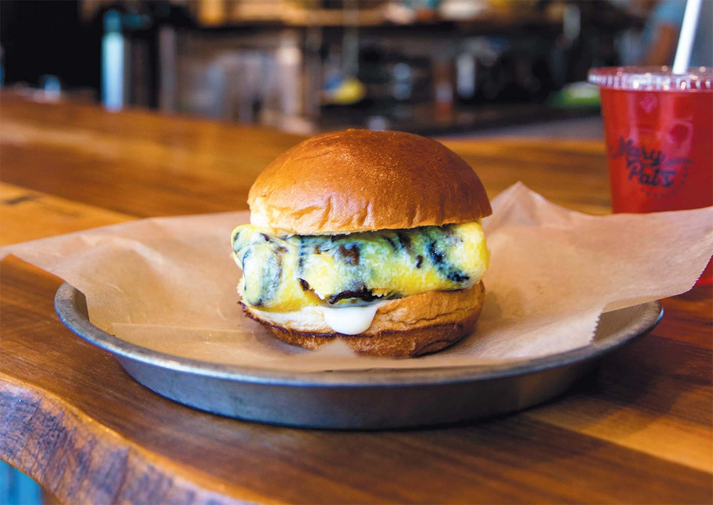 Roasted Shroom Egg Sandwich at Mary Pat's Provisions