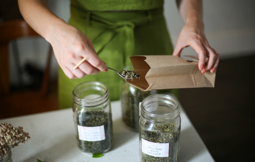 Learn the basics of herbal tea and bring home your very own personal blend.