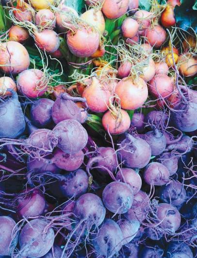 multicolored beets