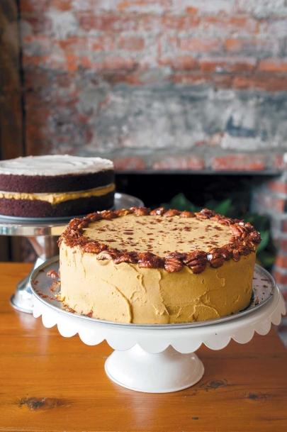 Vegan cakes at gluten-free, vegan restaurant and bakery, P.S. & Co, Philadelphia