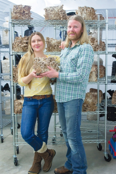 Heather Fetter and Norman Fetter of Woodland Jewel Mushrooms
