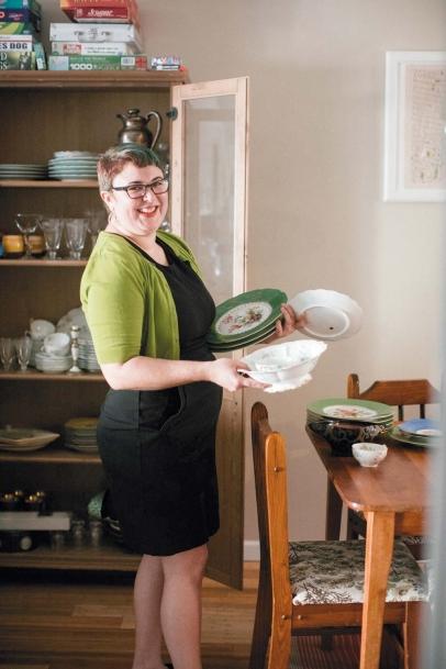 Sasha Grey with her heirloom dishes