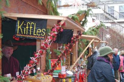 Christmas City Village artisan huts