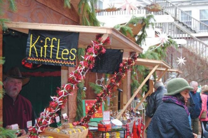 Christmas City Village artisan huts
