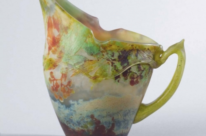 A jug by Verreries Daum