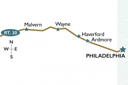 The Main Line Map