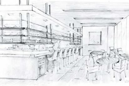 dining room at Volver