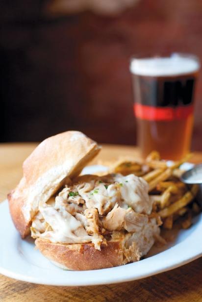 Beercan Chicken Sandwich