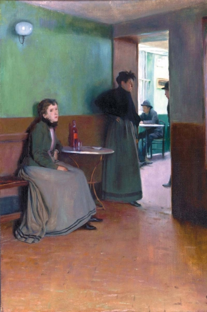 Interior of a Cafe by Santiago Rusiñol