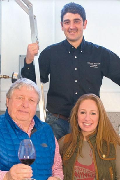 Davide Creato, Gino Razzi, Carley Razzi Mack of Penns Woods Winery