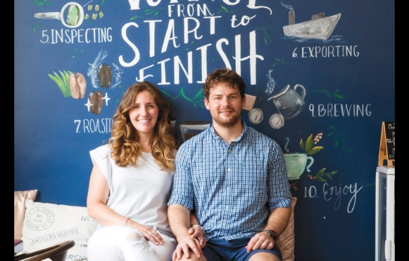 Function Coffee Labs co-owners Ross Nickerson and Megan McCusker