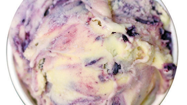 Blackberry Mint Ice Cream